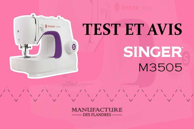 Avis et test de la machine à coudre Singer M3505